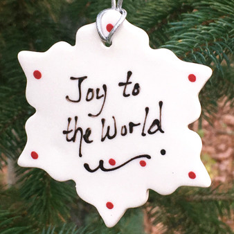 Joy to the World Snowflake Ornament
