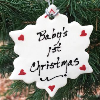 Baby's 1st Christmas Snowflake Ornament
