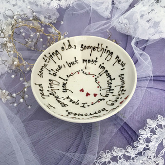 "Pottery Mountain - ""I need something old, something new, something borrowed, something blue, but most importantly ~ I need you!"" The perfect bridesmaid gift!"