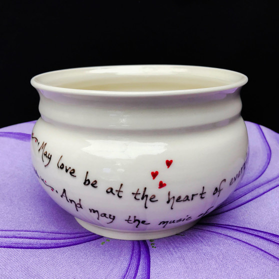 Pottery Mountain - May love be at the heart of everything you do.  And may the music of romance keep your hearts forever dancing,