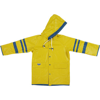 School reversible kids raincoat yellow