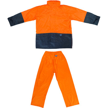 Tuflite hi-vis rain jacket and pants set orange set