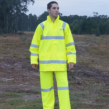 Monsoon hi-vis rain jacket