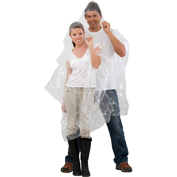 Emergency clear rain poncho