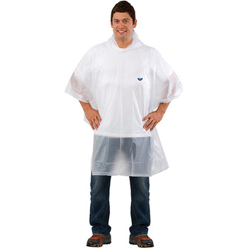 Reusable clear rain poncho