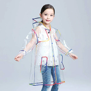 Kids Clear Rainbow Raincoat