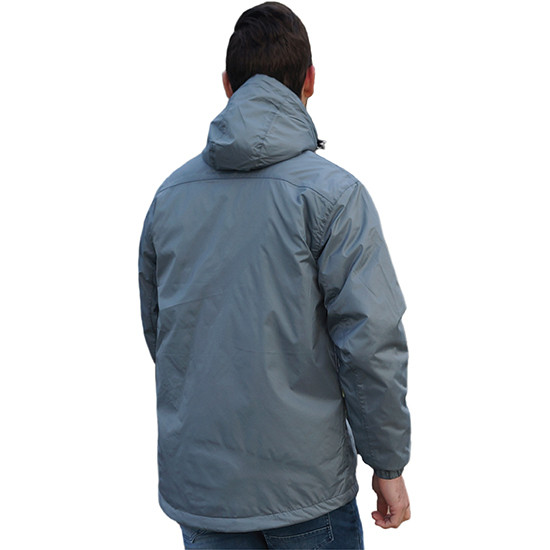 Performa rain jacket grey back