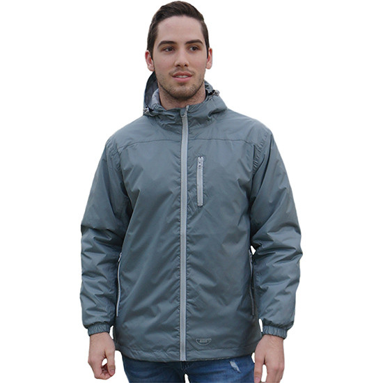 Performa rain jacket grey front