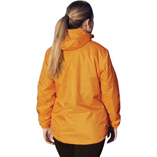 Performa rain jacket peach back