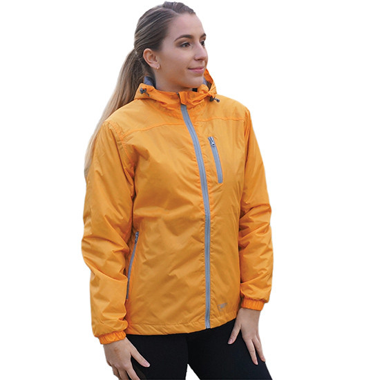 Performa rain jacket peach front