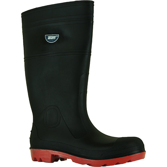 Classic gumboot black/red front