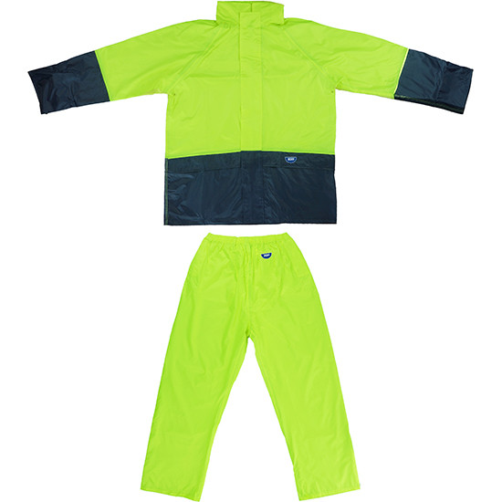 Tuflite hi-vis rain jacket and pants set lime set