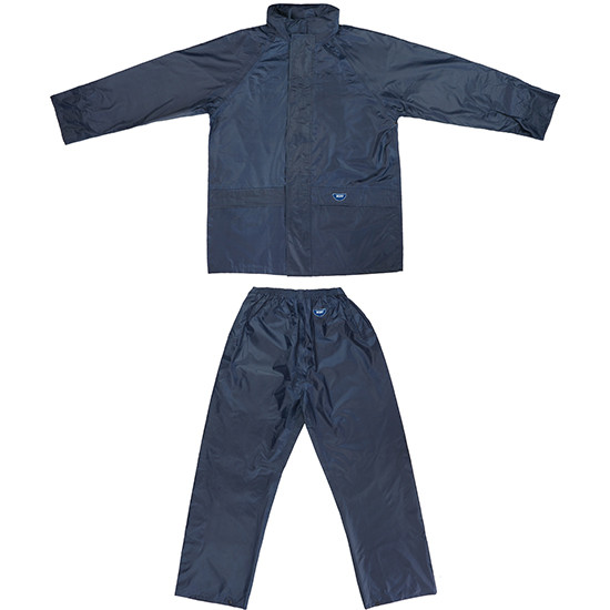 Tuflite hi-vis rain jacket and pants set navy set