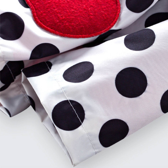 Girl's Polkadot Cherry Raincoat