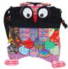 Brand-New 23X33cm black Chinese handmade FLAX OWL bag purse T609A28