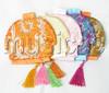 wholesale 5pcs Mix color Jewelry silk bags handbag zipper pouches T139A608