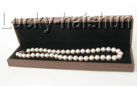 """AAAA NATURAL 17"""" 11MM ROUND WHITE SOUTH SEA PEARL NECKLACE 14K SOLID CLASP j9056"""