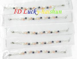 5pieces white pink black pearls baby bracelets j7635