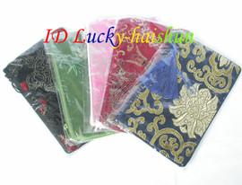 "wholesale 5pcs MIX silk pouch jewelry Zipper Bags 8*4"" j7483"