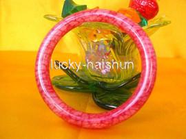 Genuine ! Chinese natural sanguine Jade Bracelet j370
