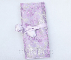 handmade silk lavender colors Jewelry bags pouches roll T787A11