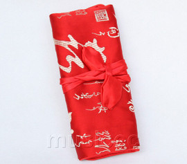 handmade silk red colors Jewelry bags pouches roll T778A11