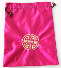 NEW Fashion pink embroidery silk shoes bag pouch T735A7E3