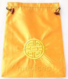 NEW Fashion yellow embroidery silk shoes bag pouch T734A7E3