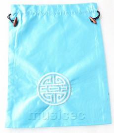 NEW Fashion light blue embroidery silk shoes bag pouch T733A7E3