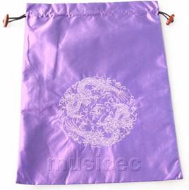 dragon pattern purple embroidery silk shoes bag pouch T720A7E3