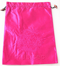 dragon pattern pink-red embroidery silk shoes bag pouch T718A7E3