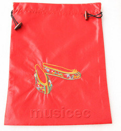 antiquity shoes pattern red embroidery silk shoes bag pouch T712A66E3
