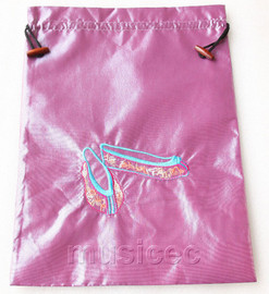 antiquity shoes pattern purple embroidery silk shoes bag pouch T710A66E3