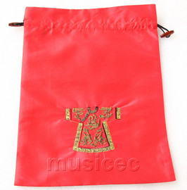 clothing pattern red embroidery silk shoes bag pouch T702A66E3