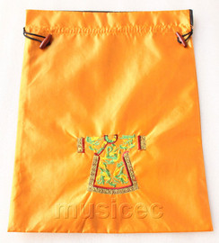 clothing pattern yellow embroidery silk shoes bag pouch T694A66E3