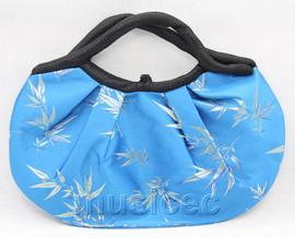 popular 37X30cm sky-blue silk handbag bag purses T660A28E11