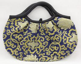 popular 37X30cm Shopping blue silk handbag bag purses T654A28E11