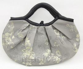 popular 37X30cm Shopping gray silk handbag bag purses T653A28E11