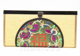 oriental style champagne handbag bags purses T643A18