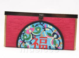 oriental style dark red handbag bags purses T642A18