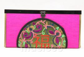 oriental style purple-red handbag bags purses T641A18