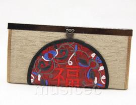 oriental style champagne silk handbag bags purses T636A18