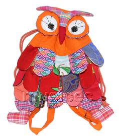 Brand-New 23X33cm orange Chinese handmade FLAX OWL bag purse T615A28