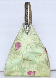 popular light green triangle Embroider silk handbag bag purses T538A19E9
