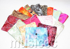 20 pieces MIX zipper silk jewelry pouchs Bags Gift packing T475A80
