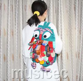 Brand-New Fashion green Chinese handmade FLAX OWL bag purse T459A66