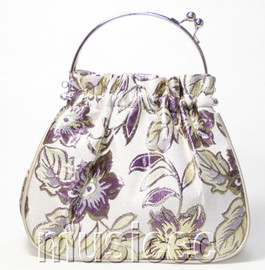 popular purple flower Chinese Embroider silk handbag bag purses T456A18