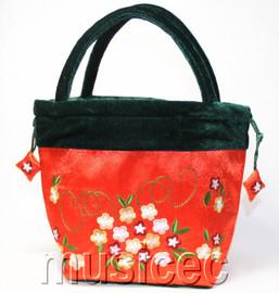 popular salmon pink Chinese Embroider silk handbag bag purses T449A30