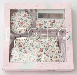 set white pink fleuret Jewelry silk mirror bags pouches Boxes set T363A20