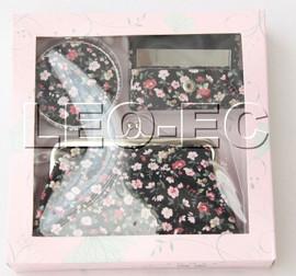 set black colors fleuret Jewelry silk mirror bags pouches Boxes set T362A20